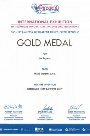 certifikat mcae 2017 zlata medaile
