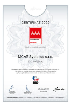certifikat mcae 2020