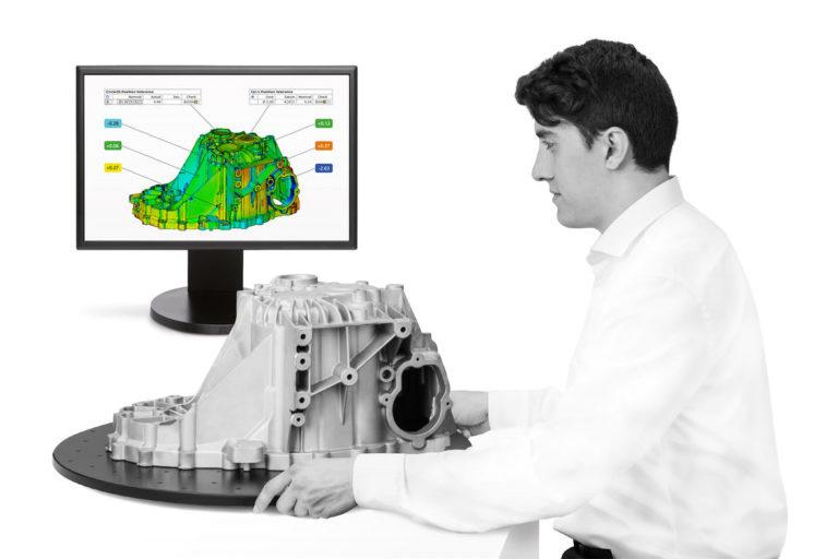 služby 3D měření slévárenství