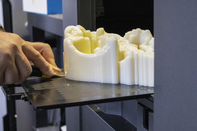 Vytlačená lebka z 3D tlačiarne